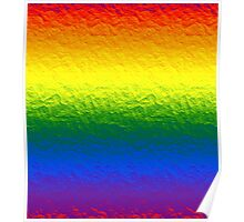 Rainbow Gradient Painted Pattern Poster