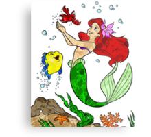 Ariel and Friends Metal Print