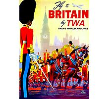 """TWA AIRLINES"" Fly to Britain Advertising Print Photographic Print"