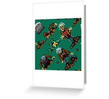 Zombies Ate My Neighbors SNES (zombie pattern) Greeting Card