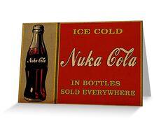 Fallout - Nuka Cola Ad Greeting Card