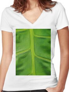 Palm Route To Nowhere Women's Fitted V-Neck T-Shirt