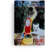 Picknick with the Wolf Canvas Print