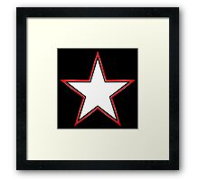 Bordered Star Framed Print