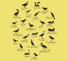 Seabird Silhouettes Kids Clothes