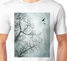 Design 24 Bird Tree Blue Unisex T-Shirt
