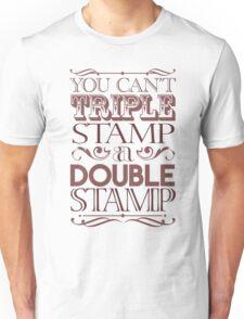 Triple Stamp Light Unisex T-Shirt