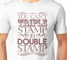 Triple Stamp Light Unisex T-Shirt