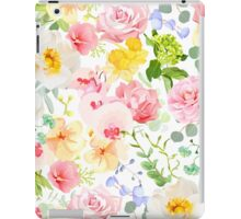 Multicolor floral seamless vector print with varied plants and flowers iPad Case/Skin