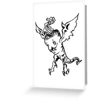 Flight of the Carozard Greeting Card