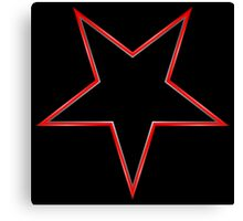 Inverted Bordered Black Star Canvas Print
