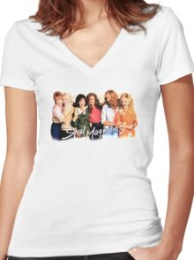 Steel Magnolias Women's Fitted V-Neck T-Shirt