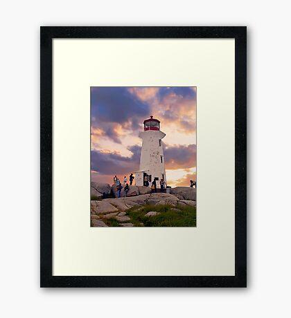 Peggy's Cove Lighthouse Framed Print