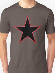 Bordered Black Star Unisex T-Shirt