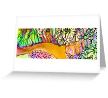 Wild Flowers Abstract Art - Sharon Cummings Greeting Card
