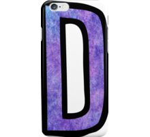 Letter D iPhone Case/Skin