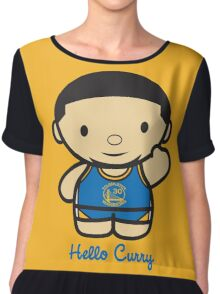 HELLO CURRY Chiffon Top