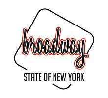 Broadway ST, New York Photographic Print