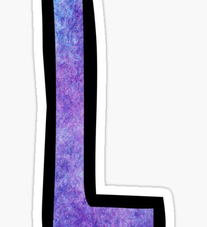 Letter L Sticker