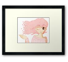 Pixel Me Pink Framed Print