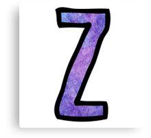 Letter Z Canvas Print