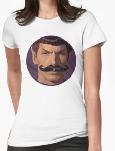 Spock Mustache Womens Fitted T-Shirt
