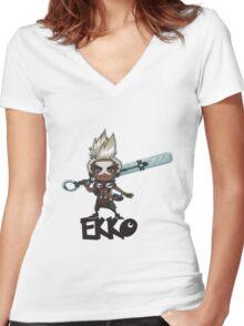 Ekko Women's Fitted V-Neck T-Shirt