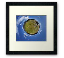 Fortified Ball - Inside Dun Aengus stone fort Framed Print
