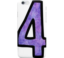Number 4 iPhone Case/Skin