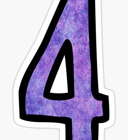 Number 4 Sticker