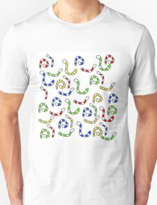 Colorful worms  Unisex T-Shirt