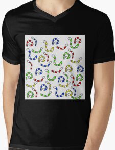 Colorful worms  Mens V-Neck T-Shirt