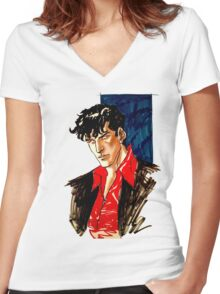Dylan Dog Women's Fitted V-Neck T-Shirt