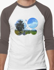 Old tree, country road and a cloudy sky | landscape photography Men's Baseball ¾ T-Shirt