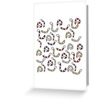 Cute worms Greeting Card