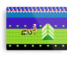 8 Bit Punchured Bike Metal Print