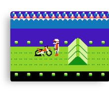 8 Bit Punchured Bike Canvas Print