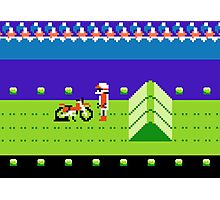8 Bit Punchured Bike Photographic Print