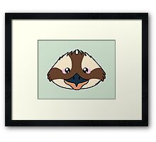 Kookaburra bird - Australian animal design Framed Print
