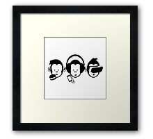 Three Hipster Apes v2 Framed Print