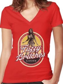 Fuzzy Britches Women's Fitted V-Neck T-Shirt