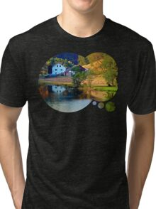 A summer evening along the river II | waterscape photography Tri-blend T-Shirt
