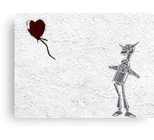 Tinman Heart Balloon Graffiti Canvas Print