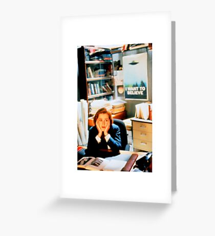 DANA SCULLY x files Greeting Card