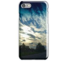 Highway dreaming in the clouds iPhone Case/Skin