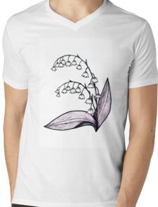Lily of the Valley Drawing Mens V-Neck T-Shirt