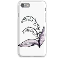 Lily of the Valley Drawing iPhone Case/Skin
