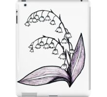 Lily of the Valley Drawing iPad Case/Skin