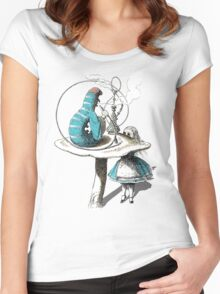 Alice wants a toke Women's Fitted Scoop T-Shirt