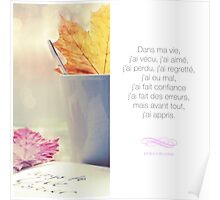 J'ai appris - Citation sur la motivation Poster